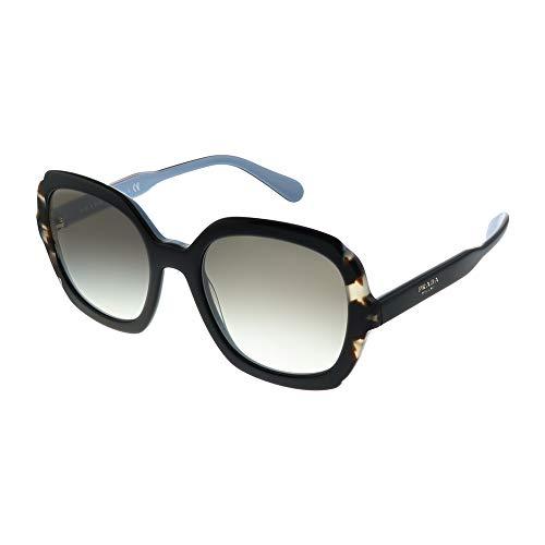 Prada PR 16US - KHR0A7 Sunglasses Black Azure/Spotted Brown w/ Grey Gradient Lens 54mm      (Prada Pr)