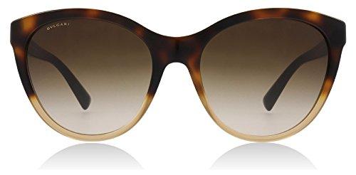 Bvlgari BV8197 536213 Brown Havana Gradient BV8197 Round Sunglasses Lens Catego