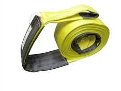 2″ X 40 Ft Single Ply Recovery Strap with Wear Pad In Loops and on Body