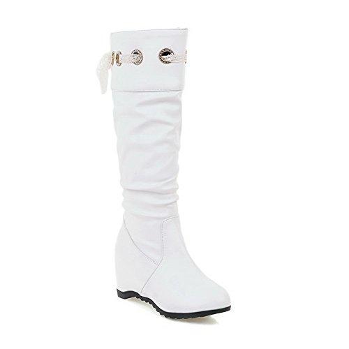 Balamasaabl09679 - Bottes Frisées Pour Femmes, Blanc (blanc), 35 Eu