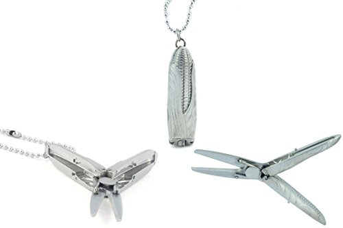 HEYE Corn Shape Mini Stainless Steel Folding Scissors, Foldable, Unique Handmade Craft