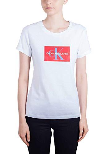 Bianco Klein Donna Slim Jeans shirt T Taglia Cotone Monogram Calvin In Xl Box xw6AnRW6