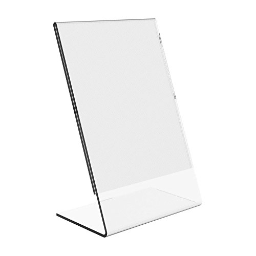 Dazzling Displays 10-pack Acrylic 5x7 Slanted Sign Holders
