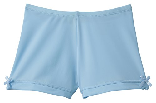 Monkeybar Buddies Worry-Free Girl's Playground Shorts, Nylon and Spandex Blend, Size 12, Light Blue by Monkey Bar Buddies