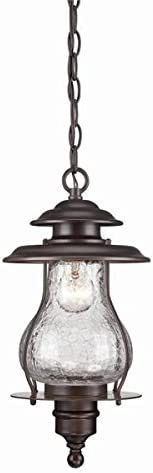 Acclaim 8206ABZ Blue Ridge Collection 1-Light Outdoor Light Fixture Hanging Lantern, Architectural Bronze