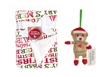 Baby's First Christmas Blanket and Toy Bundle (Santa Bear)