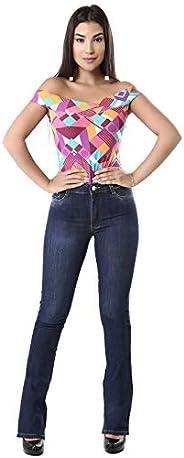 Calça feminina Flare, Sawary Jeans, Feminino
