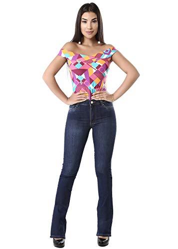 Calça feminina Flare, Sawary Jeans, Feminino, Jeans, 40