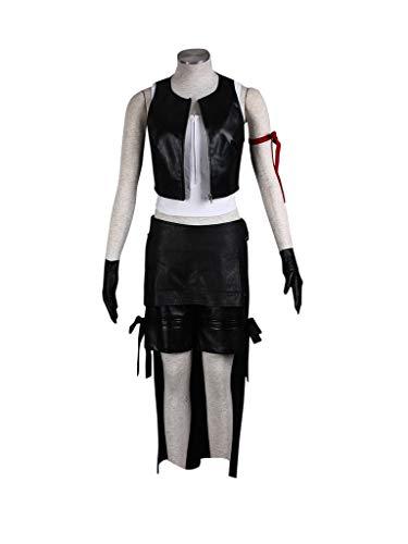 Mtxc Women's Final Fantasy VII Cosplay Costume Tifa Lockhart 1st Size XL-Plus Black