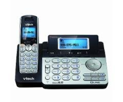 Bluetooth Digital Cordless Phone - VTech DS6151 2-Line Expandable Cordless Phone with Digital Answering System and Caller ID with 4 Extra DS6101 Handsets
