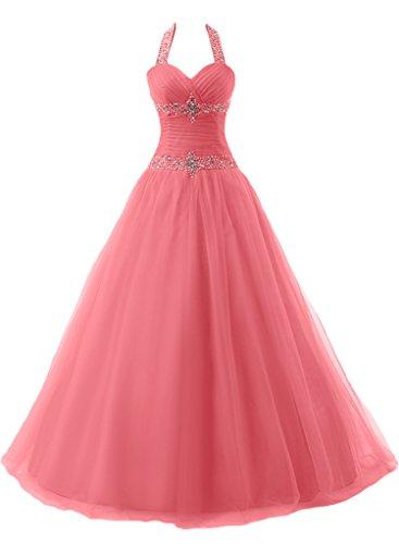 Lang Ivydressing Mit Rosa Festkleid Neckholder Linie Promkleid Steine Abendkleid Duchesse Liebling Damen qqTnw8pB