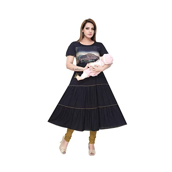 Best Indian Traditional Wear Anarkali Kurti for Pregnant Ladies India