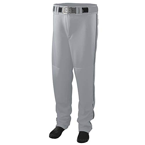 Augusta Sportswear Men's Augusta Series Baseball/Softball Pant with Piping, Silver Grey/Black, Large (Frauen In Augusta)