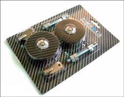 NRG Innovations CHL-100 Black Carbon Fiber Overlay Hood Lock