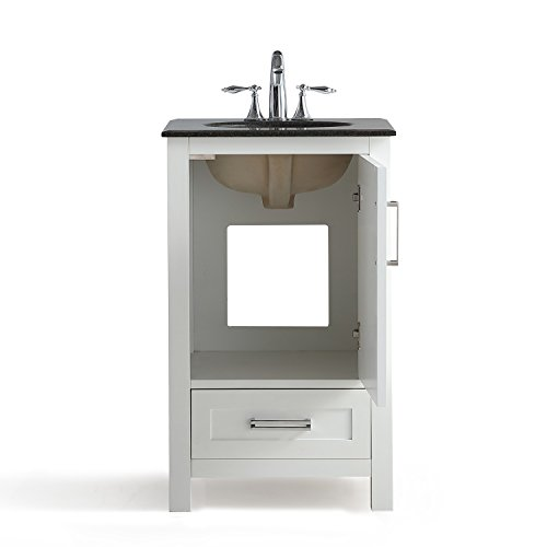 Simpli Home Axcvshw 20 Evan 20 Inch Bath Vanity With Black Granite