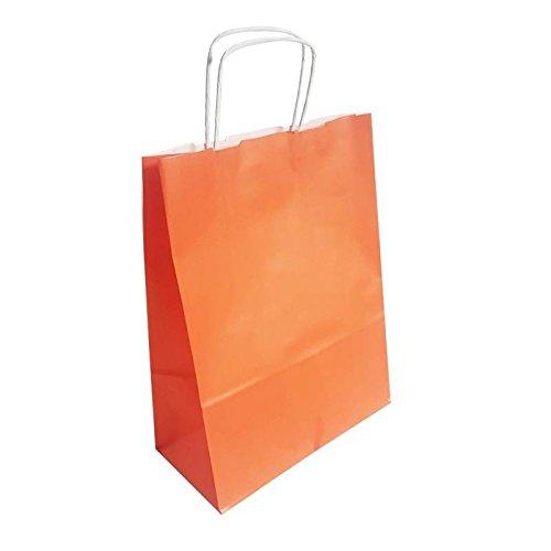 31789f6c8 50 bolsas de papel Kraft Naranja sobre fondo blanco 24 x 11 x 31 cm - 6294   Amazon.es  Ropa y accesorios