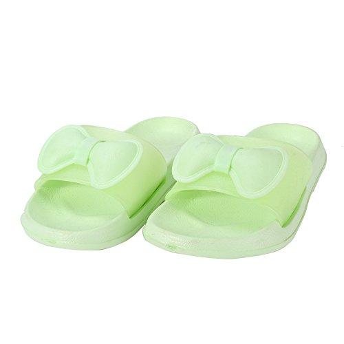 mujeres en de verano piso Deslizadores Deslizadores Sandalias interior Casual antideslizantes Verde las de baño de de para WILLIAM colores Deslizadores amp;KATE nYB8fO0q