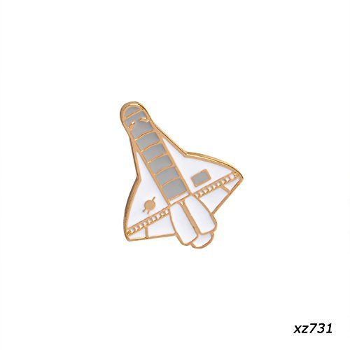 JIEPING Cartoon Creative Aircraft Astronaut Rocket Space Shuttle Planet Metal Pins 1Pc (Planet Pin Lapel)