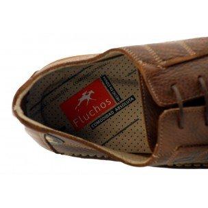 Para Zapatos Cordones Hombre De Fluchos Tabaco x80nzpxw