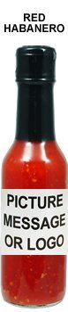 Private Label Hot Sauce - Red Habanero (48 bottles) (Best Band Merch Sites)