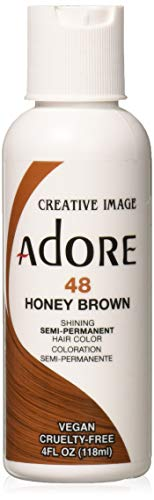 Adore Semi-Permanent Haircolor #048 Honey Brown 4 Ounce (118ml)