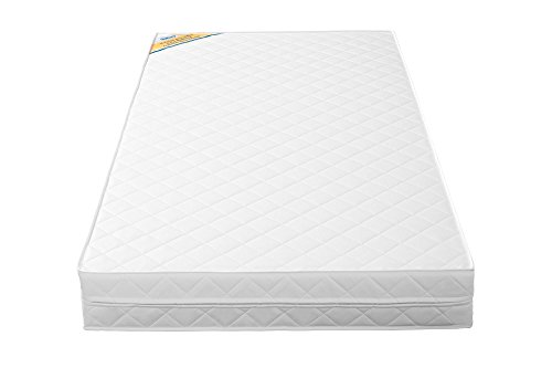 Amazon.com : Safety 1st Grow with Me 2 in 1 Baby Crip and Toddler Mattress with High-Density Thermo-Bonded Core - Lightweight and Durable - White : Baby