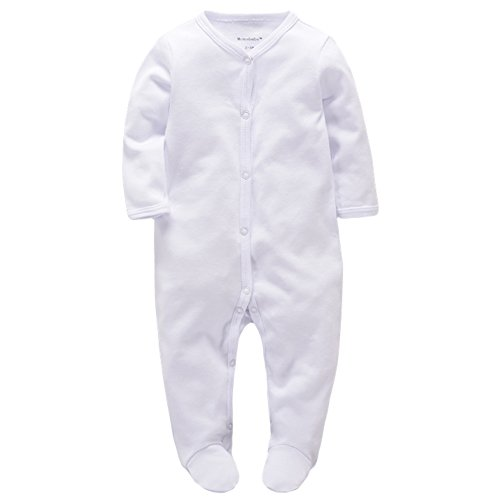 Baby's Romper Organic Winter Clothes Cotton Sleep n Play Footie Long Sleeve (6-9M) (Cottons Romper Adorable Cotton)