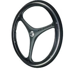 X-Core 3 Spoke Wheel Handrims - Black Anodized