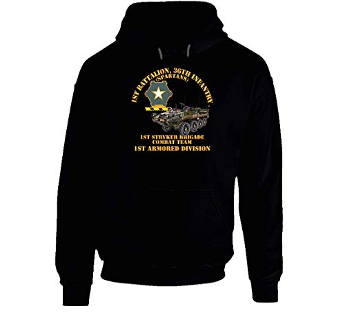 2XLARGE - Army - 1st Bn 36th Infantry - 1st Stryker Bde Cbt Tm - 1st Ar Div Hoodie - Black ()