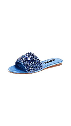 alice + olivia Women's Abbey Crystal Slides, Cerulean, 37.5 EU (7.5 B(M) US Women)
