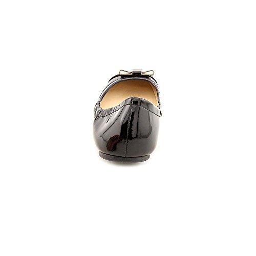 Ballerine Da Donna Demi Vernice E Pelle Martellata, Stile, Nero, Taglia 9.0