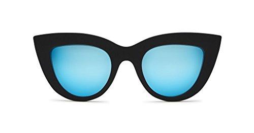 QUAY AUSTRALIA Women's Kitti Black/Blue Mirror - Made Australia Sunglasses In