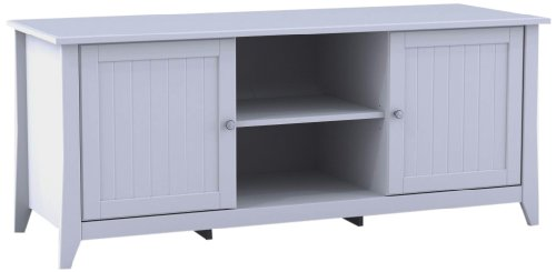 Nexera Vice Versa TV Stand 202103, 58-Inch, White by Nexera