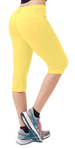 HyBrid & Company Super Comfy Stretch Bermuda Shorts Q43308 Lemon ()