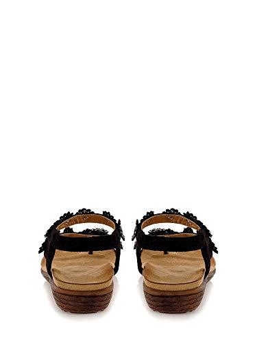 Sandalo Nero Donna Infradito Exe G489q6322f32 36 RUqwa1