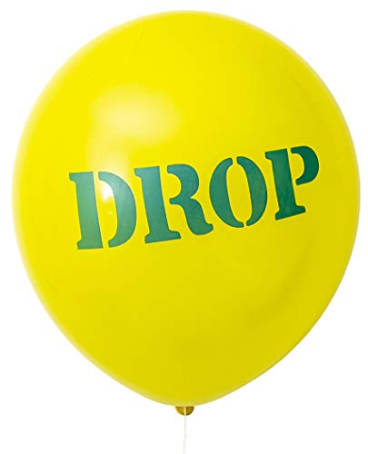 Fortnite Yellow Party Balloons with Blue Drop Logo