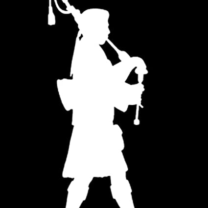 Euro Bagpipes Piper Bagpiper Graphic Decal Sticker Car Wall Oval NOT Two Colors