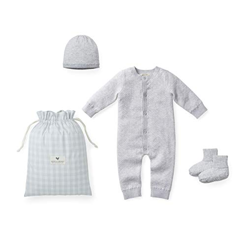 Hope amp Henry Layette Diamond Jacquard Knit Set