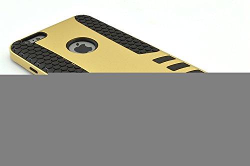 iPhone 6S hülle, iPhone 6 hülle, Lantier stoßabsorbierendes Hybrid beste Wirkung Defender Rugged Schlank Hülle Shell mit Kunststoffaußen & Rubber Silikon Inner für Apple iphone 6 / 6S Silber