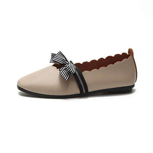 On colore Flats Comfort Eu Beige Zhrui Slip Ballet 38 Knot Nero Shoes Casual Dimensione Ef8UxwqBYx