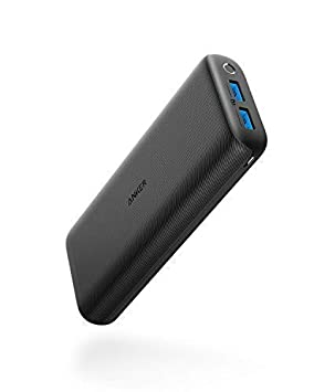 Anker PowerCore 20000 Redux, 20000 mAh Cargador portátil, batería externa de alta capacidad Puerto dual 4.8A Banco de bateria compacto de salida para ...