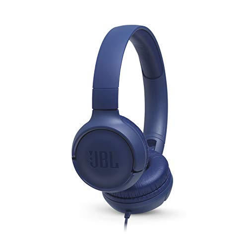 JBL TUNE 500 - Wired On-Ear Headphones - Blue