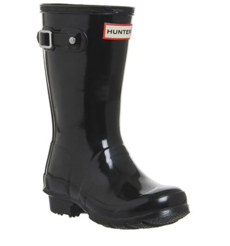Hunter New Original Kids Gloss Wellington Boots - Gloss Lipstick (Pink) Child Size 1