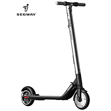 Ninebot Segway ES 2 Kick Scooter with High Performance, Up to 15.5 Mile Range and 15.5 MPH Top Speed, Foldable and Portable Self-Balancing Electric Scooter with LED Lightings & Mobile App Connectivity