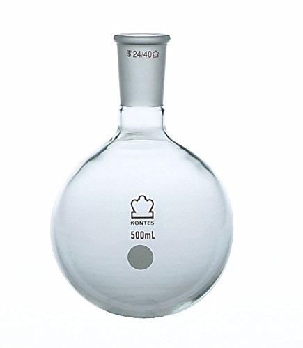 Kimble Chase KIMAX 601000-0624 Heavy Wall Round Bottom Flasks, Single 24/40 Standard Taper Neck, Borosilicate Glass, 500 ml