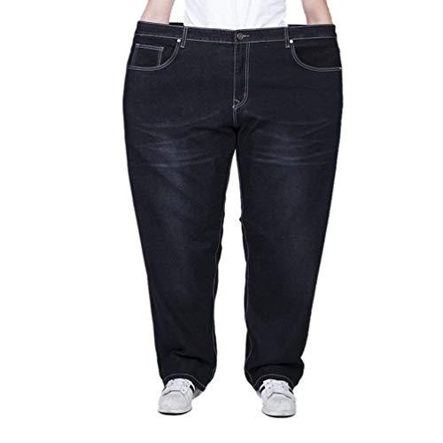 Haidean Dritti Da Moderna Nero Pantaloni Oversize Traspiranti Stretch Casual Uomo In Jeans Lunghi Casuali Denim ZrfxqZa
