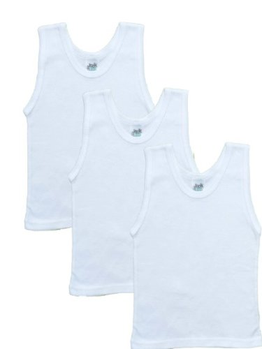 3 Pack Jack n Jill Boys 100% Combed Cotton Undershirt in Solid White