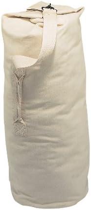 Canvas Duffle Bag White Champion Sports 12 oz