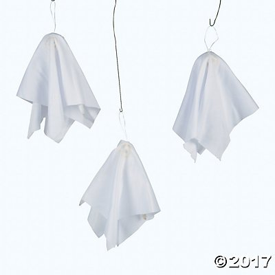 Chiffon Ghosts - Party Decorations & Hanging Decorations (Hanging Ghost Decorations)