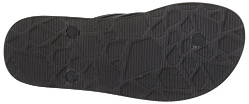 Volcom Hombres Rocker 2 Sandalias Con Estampado De Flip-flop Print Negro